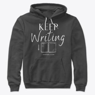 Keep Writing Unisex Hoodie
