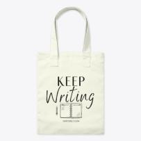 Keep Writing Tote Bag